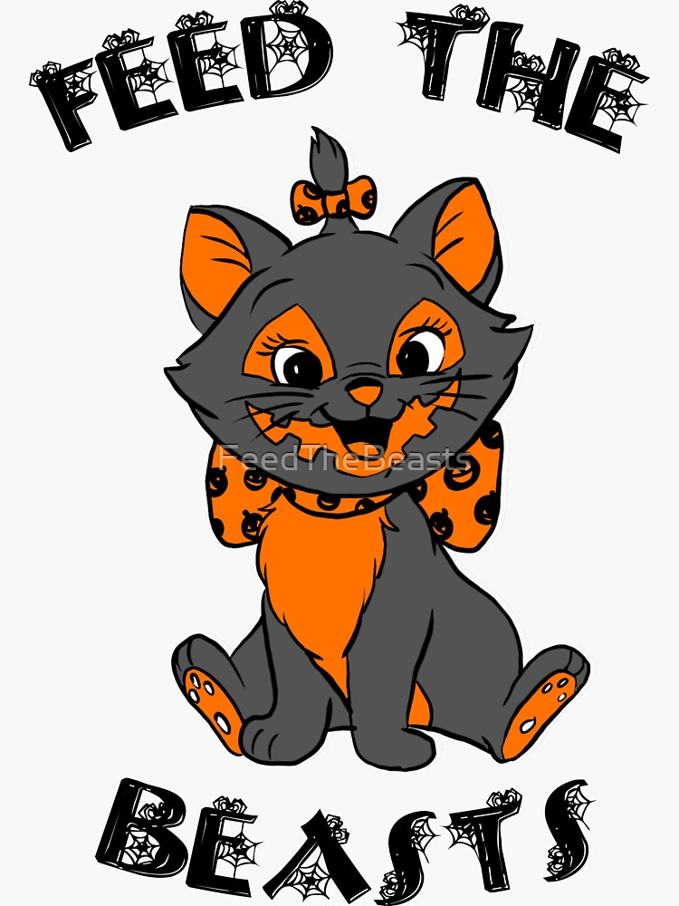 Hallokitty- Feed the Beasts Halloween (Designed by Jonathan Grimm Art) Proceeds Help Rescue Cats! by FeedTheBeasts