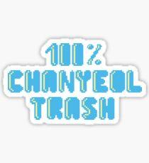 100% Chanyeol trash Sticker