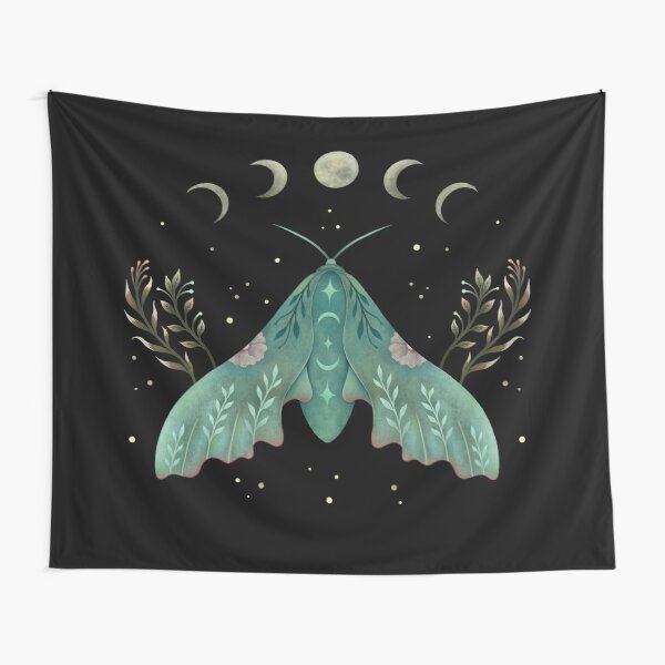Luna and Moth Tapestry