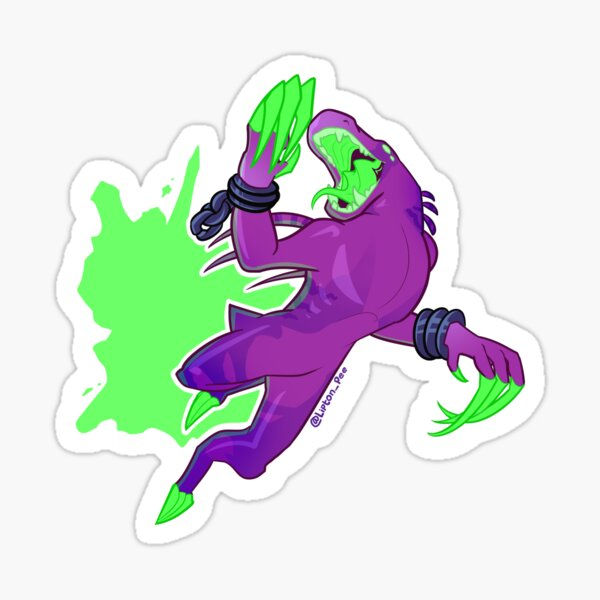 Acrid Jumping Glossy Sticker
