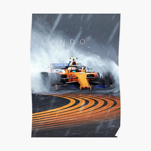 Lando norris mclaren f1 Racer Poster