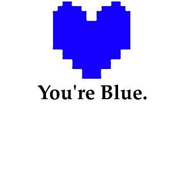 Undertale - Blue Heart by CJustusMig