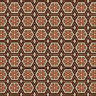 Brown Orange Geta Wooden Sandals Repeating Pattern Fractal by Beverly Claire Kaiya