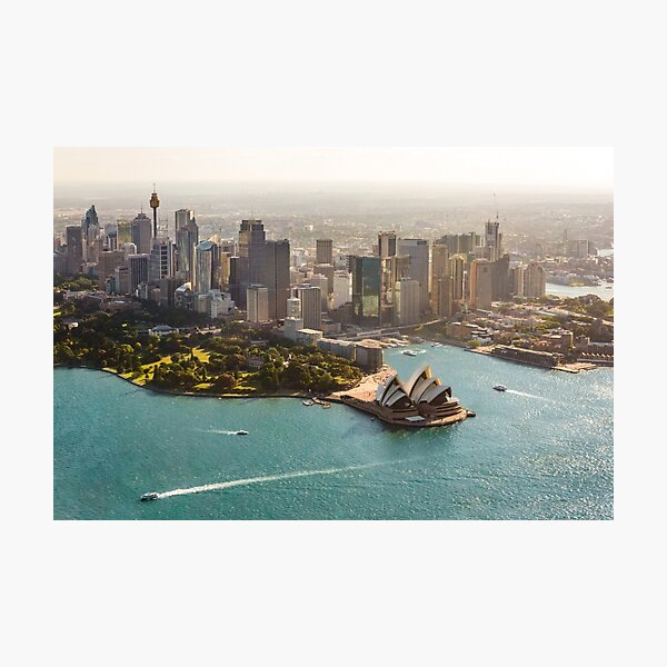 Sydney from the Sky Photographic Print