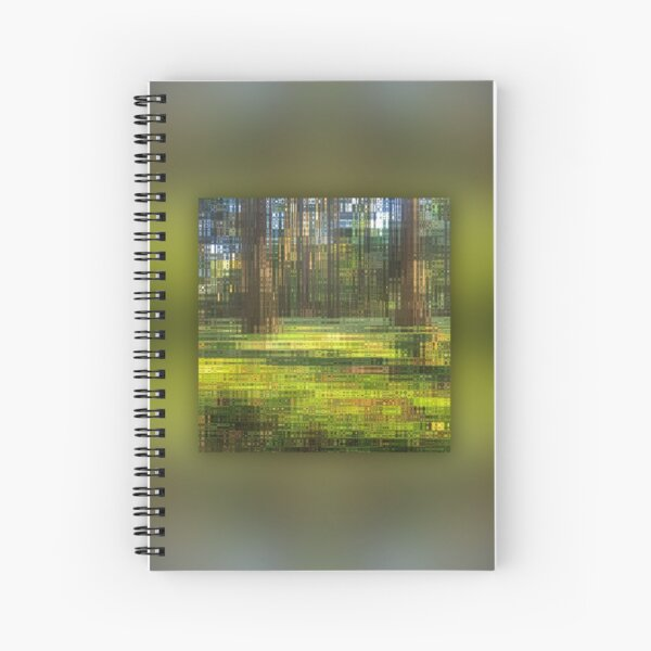 Clean Water Thanks to the Forest Rippling Abstract Spiral Notebook