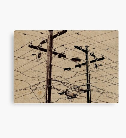 Crossed Wires Canvas Print