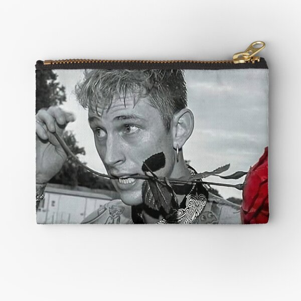 kellys with red rose in mouth Zipper Pouch