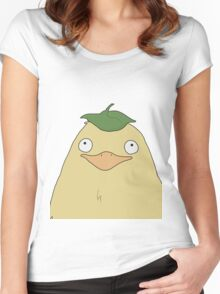 Duck/bird/chicken leaf Women's Fitted Scoop T-Shirt