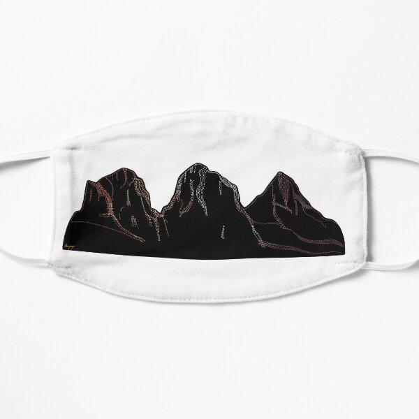 Three Sisters Mountain Flat Mask