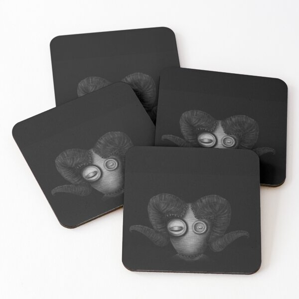 Aries Dollcreature- surreal gothic dolls Coasters (Set of 4)