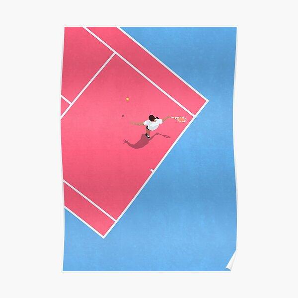 Pastel Tennis Court Poster
