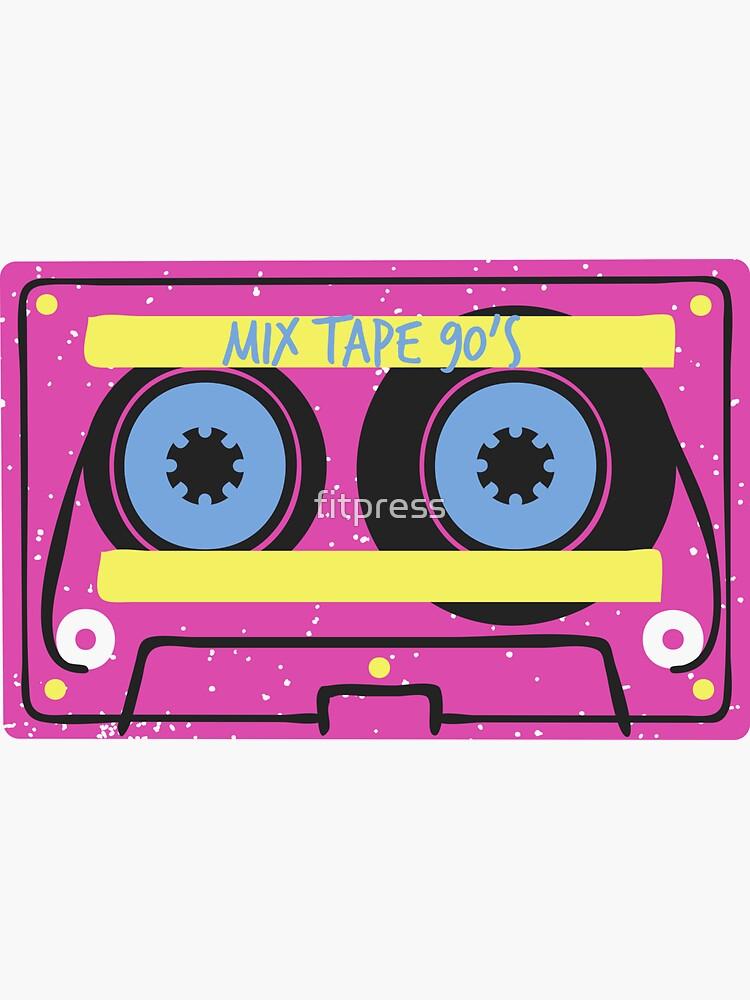 90s mix tape (pink) 1990's Music CD Retro Vintage Nostalgia Old School Hip Hop R&B Rap Rock Metal Grunge,Gift  by fitpress