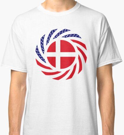 Danish American Multinational Patriot Flag Series Classic T-Shirt