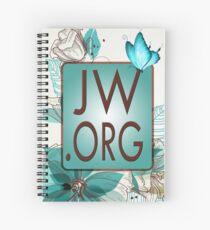 JW.ORG LOGO BLUE FLORAL Spiral Notebook