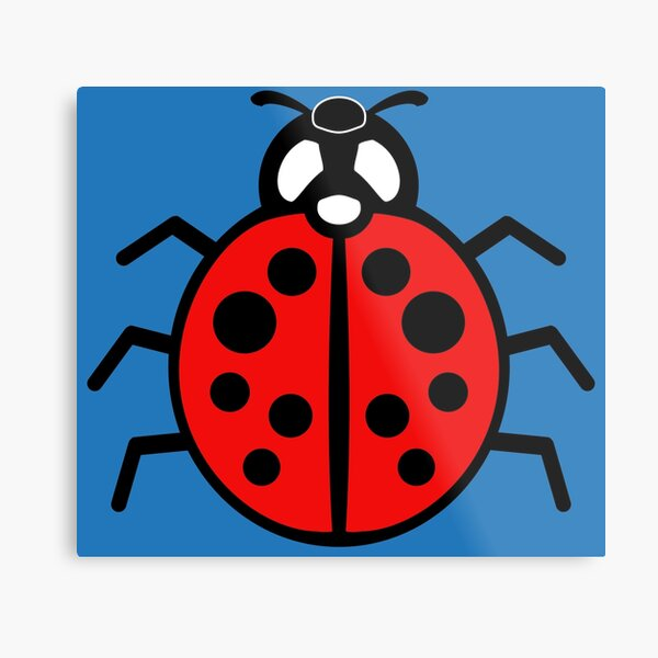 DebugPress: Black and Red Ladybug Sign Metal Print