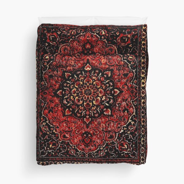 Persian carpet look in rose  Duvet Cover