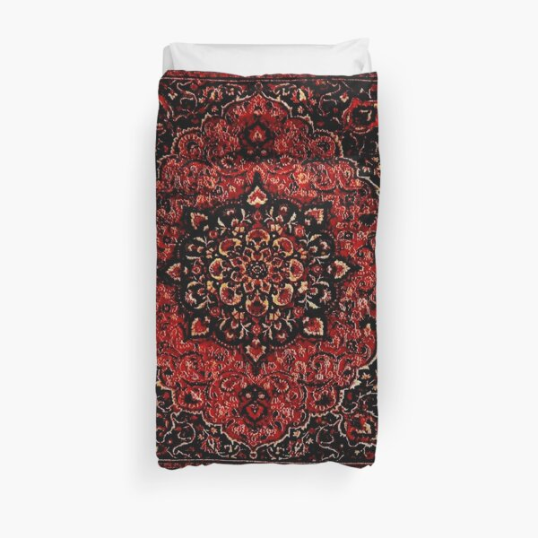 Persian carpet look in rose  Duvet Cover
