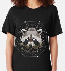 Geometric Raccoon Slim Fit T-Shirt