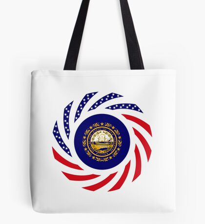 New Hampshire Murican Patriot Flag Series Tote Bag