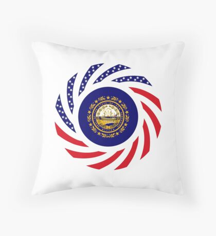 New Hampshire Murican Patriot Flag Series Throw Pillow