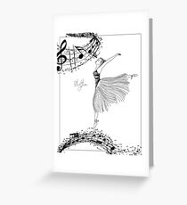 Rhythm Ballerina Zen Art Coloring Page Greeting Card