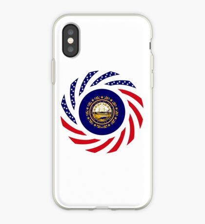 New Hampshire Murican Patriot Flag Series iPhone Case
