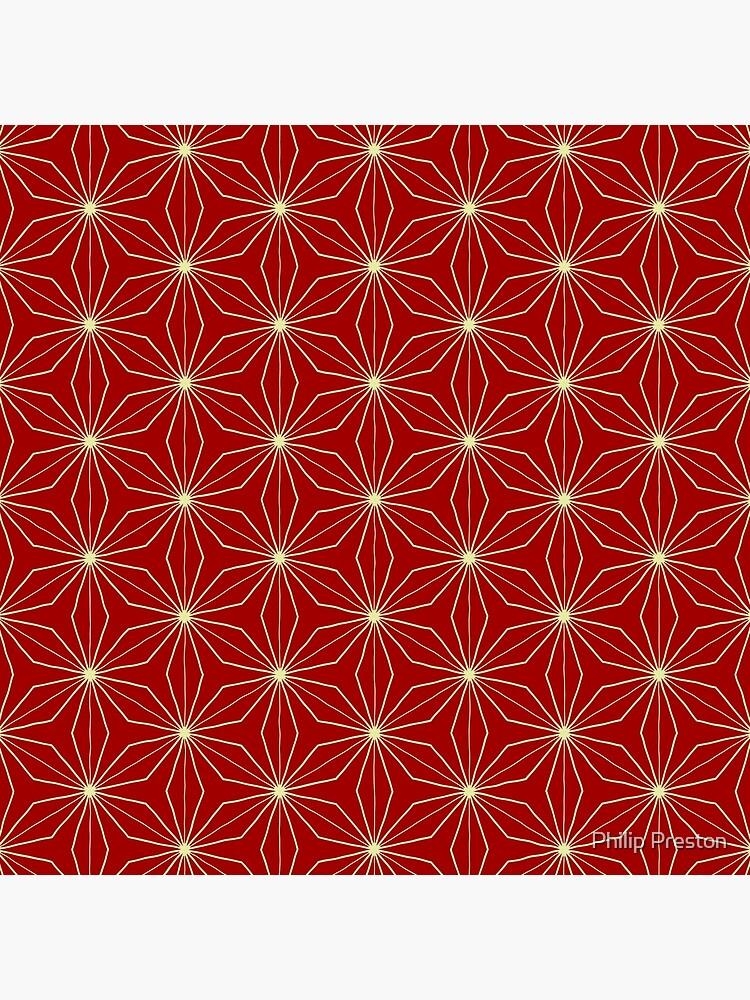 Classic Geometry Red Orange Pattern Design 40 by prestonphoto