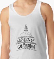District of Columbia Zentangle Tank Top