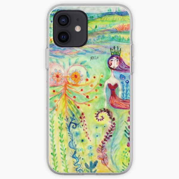Colorful Mermaid Princess, Flowers Floral Curly Water Abstract Landscape iPhone Soft Case