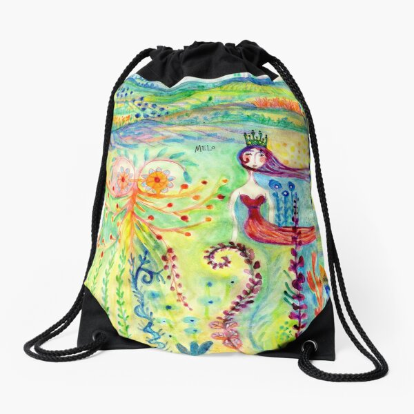 Tales in Paradise Drawstring Bag