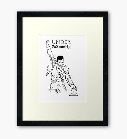 Under Pressure Framed Print