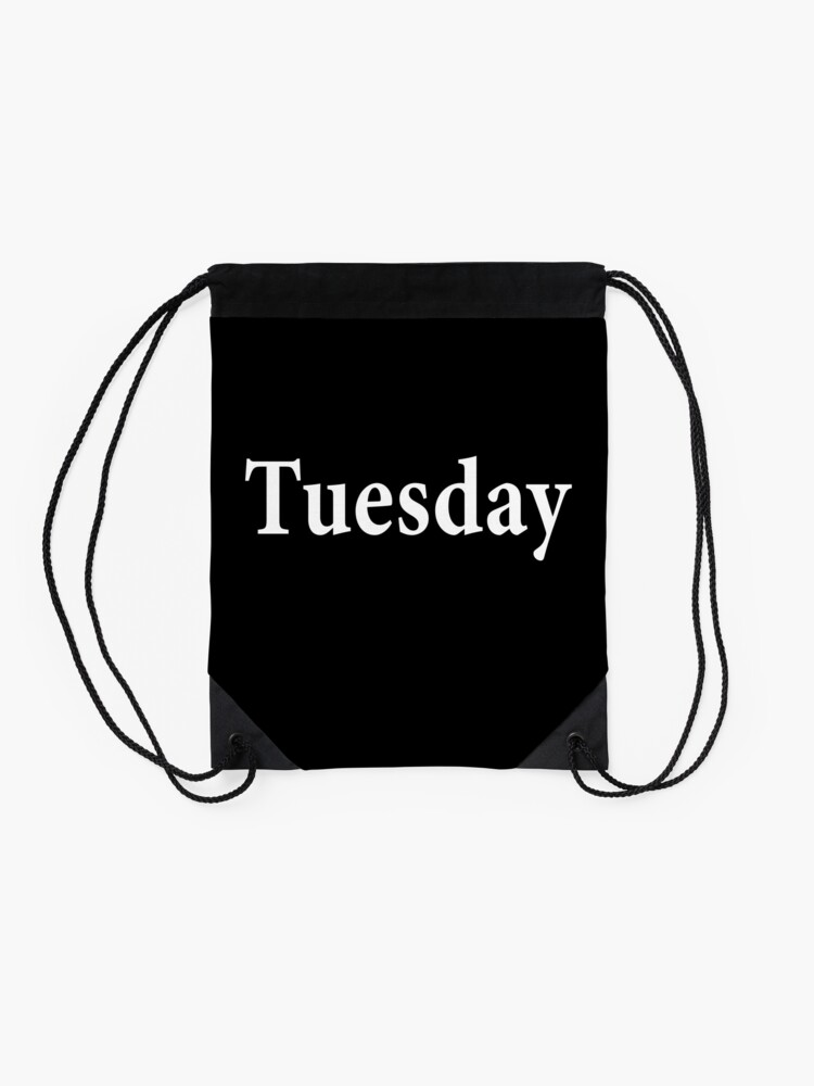 Alternate view of Tuesday - Mars - Roman God of War - Taco Tuesday - tueyah Drawstring Bag