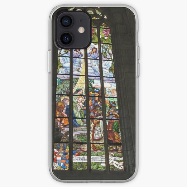 St Barbara's cathedral, Kutna Hora, stained glass window iPhone Soft Case