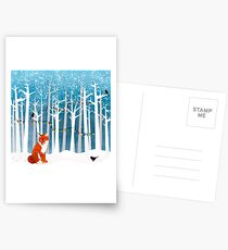 2016 Square Poster - Christmas Fox Postcards
