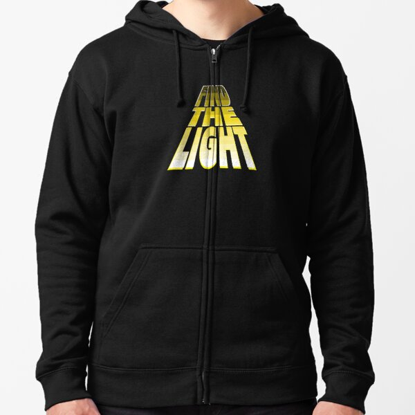 Find the Light - Yellow. Zipped Hoodie