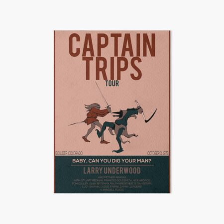 Captain Trips Tour | The Stand | Stephen King Art Board Print
