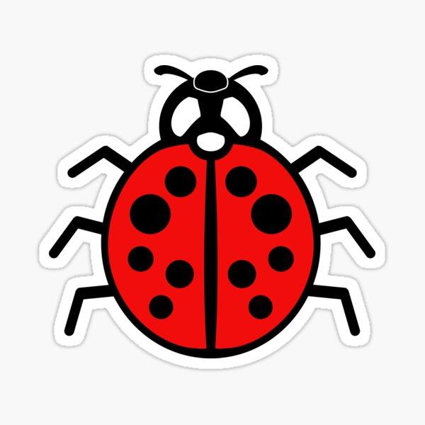 DebugPress: Black and Red Ladybug Sign (Alternative) Sticker