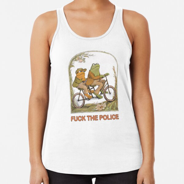 Two Frogs Riding - Frog And Toat Racerback Tank Top
