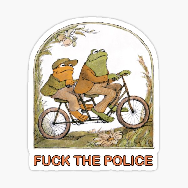Two Frogs Riding - Frog And Toat Sticker