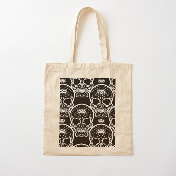 Tribal Skull Pattern Cotton Tote Bag