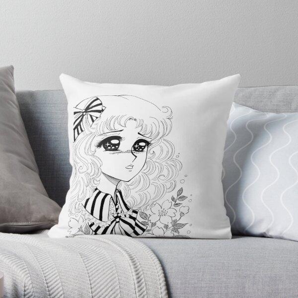 Candy manga girl Throw Pillow