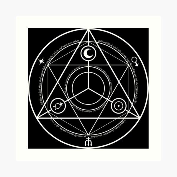 Alchemy, Alchemy symbol, Alchemic symbols, Transmutation circle, Image  Art Print