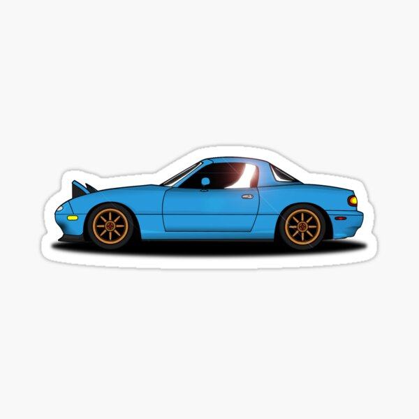 Miata bleue Sticker