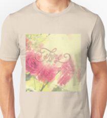 Beautiful Pink English Roses Shine Matte Sunlight Rays T-Shirt