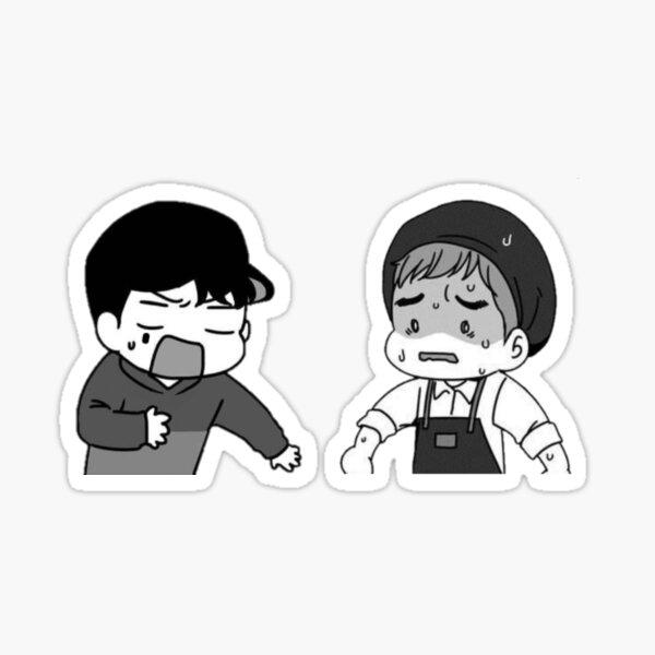 Stressed Boyfriends Sticker