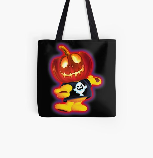 Trick or Treat Bag - Little Ted Pumpkin Head by OrganicBeej All Over Print Tote Bag