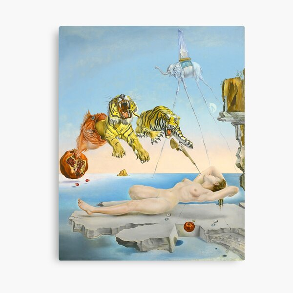 Dream Caused by the Flight of a Bee (HD) Canvas Print