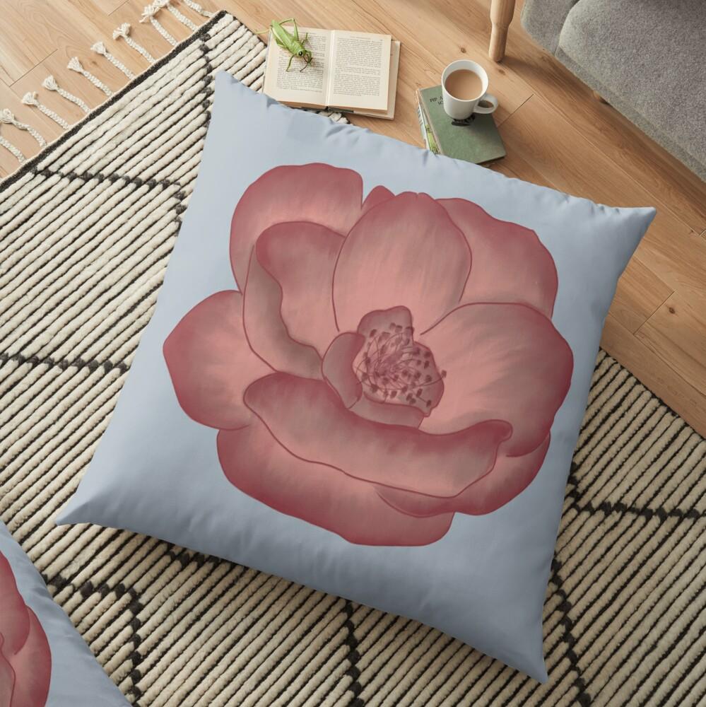 Pretty Pink Primrose Floor Pillow