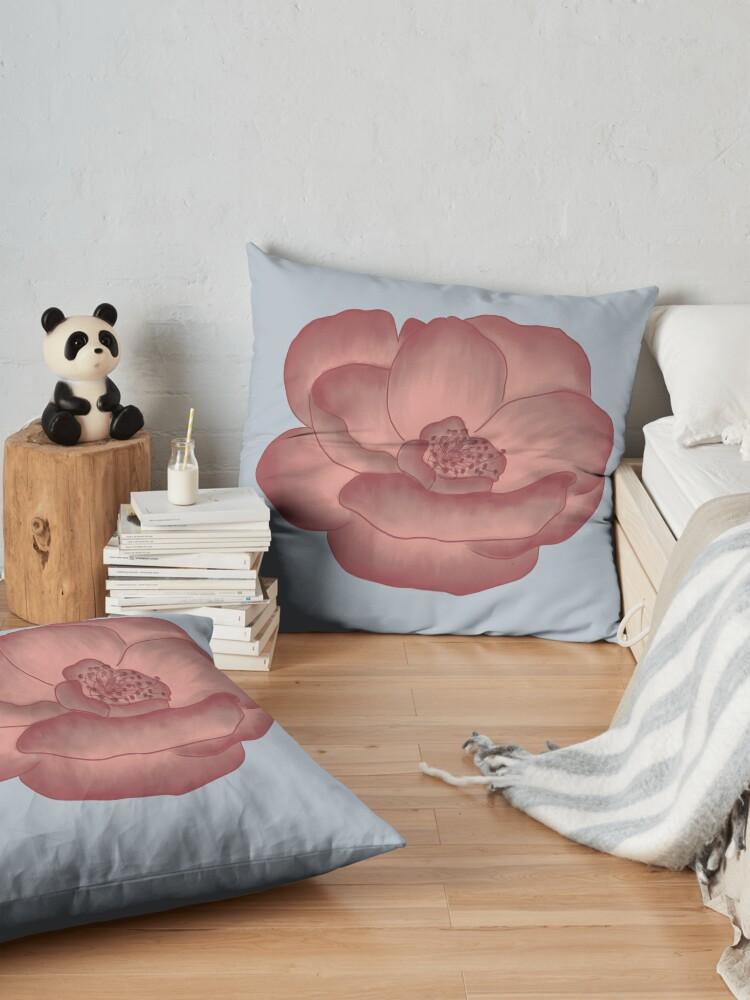 Alternate view of Pretty Pink Primrose Floor Pillow