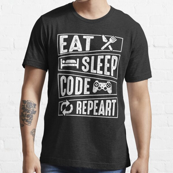 Eat Sleep Code Repeat Essential T-Shirt